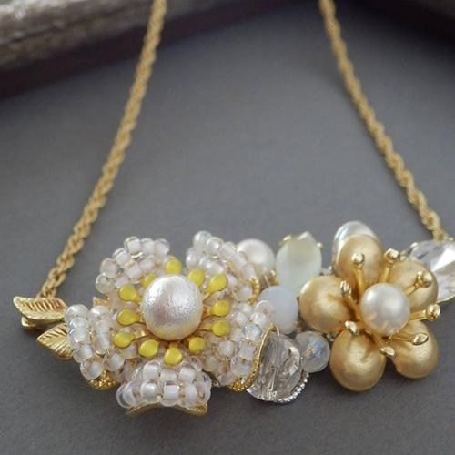 ハンドメイドのFloretネックレス~ワイヤーで作る小花のネックレス~